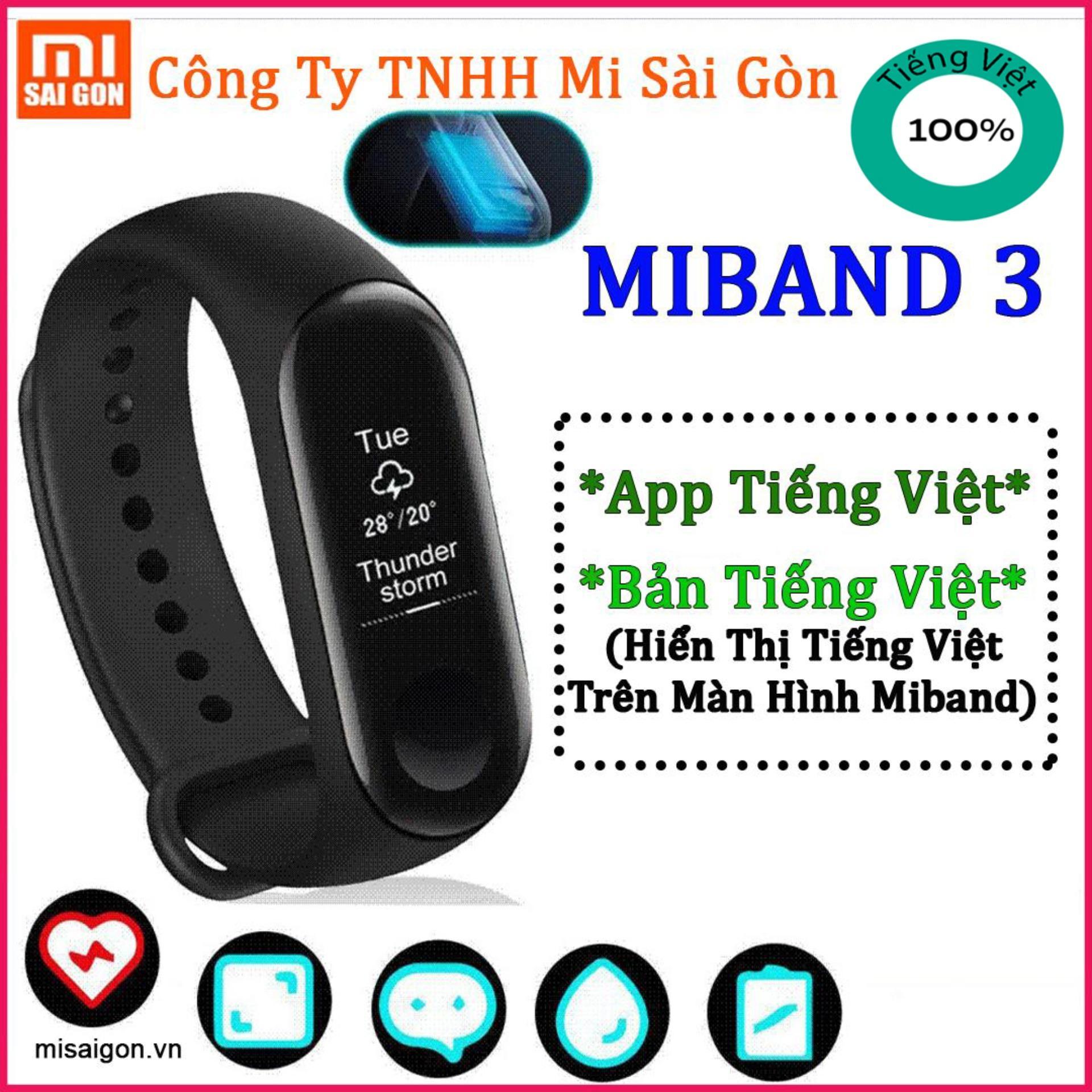 Vòng Đeo Tay Thông Minh Xiaomi Miband 3 [ĐEN] bán chạy
