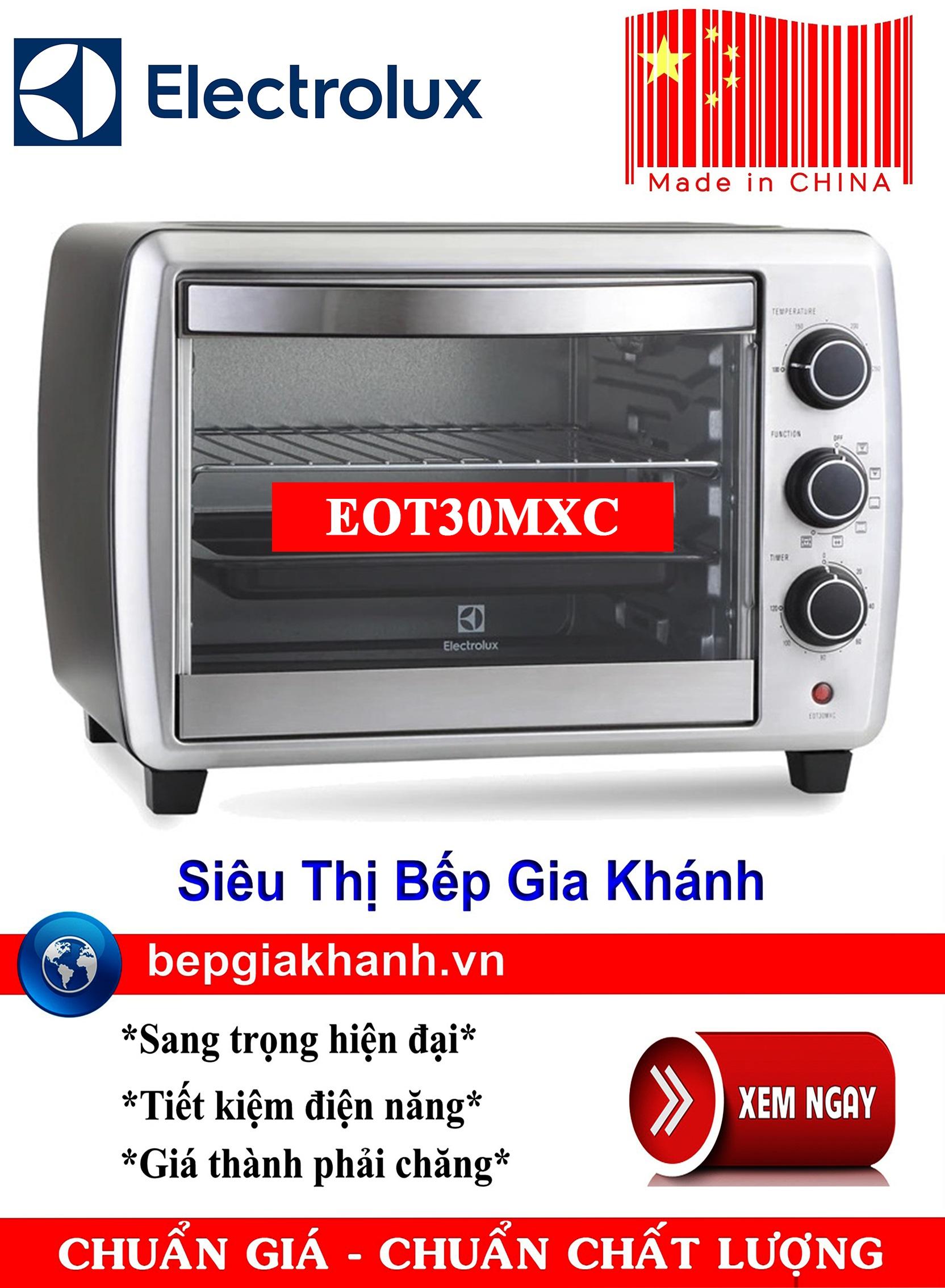 Lò nướng để bàn Electrolux EOT30MXC sản xuất Trung Quốc, lò nướng, lò nướng điện, lò nướng điện đa năng, lò nướng mini, lò nướng bánh, lò nướng lock and lock, lo nuong, lo nuong dien da nang