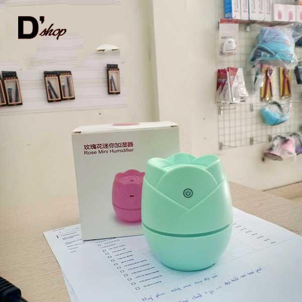Bảng giá [HOT] Máy phun sương mini cao cấp rose màu XANH LÁ, có đèn cảm ứng tiện lợi