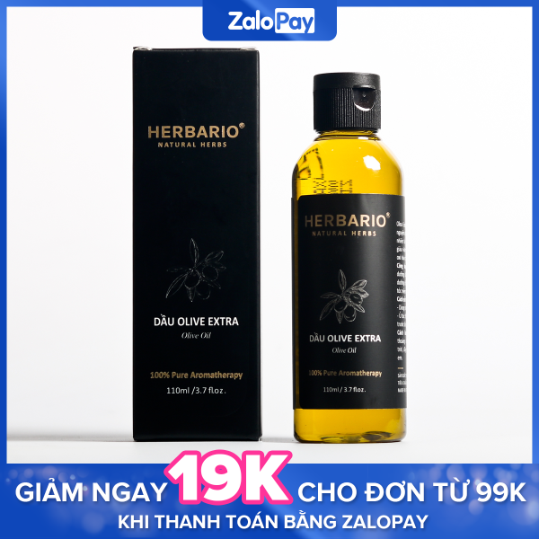 Dầu oliu (olive) làm đẹp Extra nguyên chất herbario 110ml giúp dưỡng da, dưỡng ẩm nhập khẩu