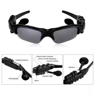 [ Mẫu Mới 2020 ] Mắt Kính Kiêm Tai Nghe Bluetooth Công Nghệ Mới Thông Minh Tích Hợp Microphone Nghe Gọi Mặt Kính Chống Chói Và Chống Tia Cực Tím thumbnail