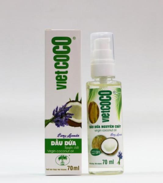 Dầu dừa nguyên chất organic VIETCOCO 70ML - hương lavender