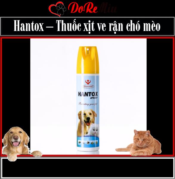 Doremiu Hantox - Xịt ve rận chó mèo (300ml) có đầu phun diệt bọ chét bọ nhảy trên thú cưng