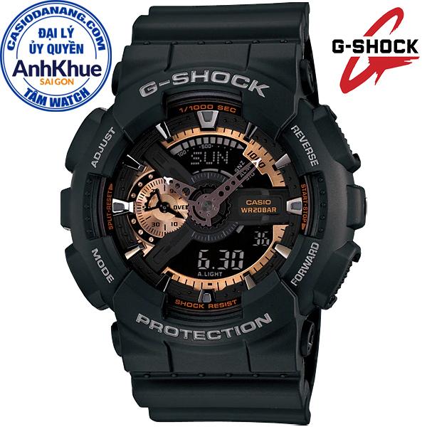 Đồng hồ nam dây nhựa Casio G-Shock chính hãng Anh Khuê GA-110RG-1ADR (51mm)