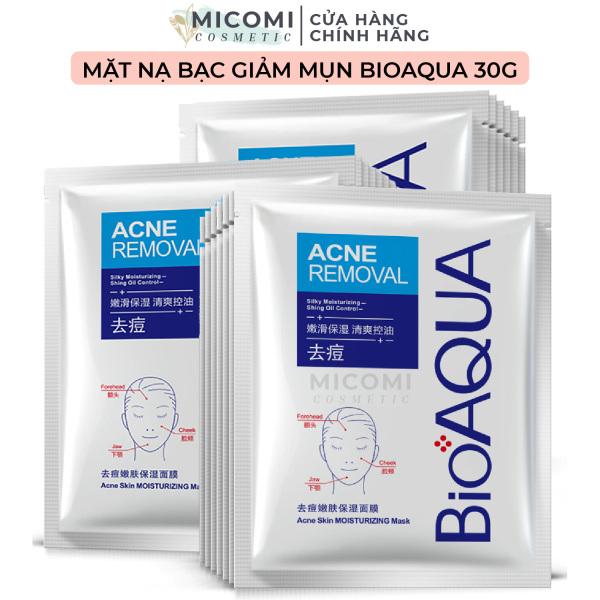[HCM]Mặt Nạ Bạc Giảm Mụn Kiềm Dầu Làm Sạch Da Mụn Đỏ Mụn Đầu Đen Mask Giấy Đắp Mặt Pure Skin Bioaqua Nội Địa Trung MICOMI Cosmetics giá rẻ