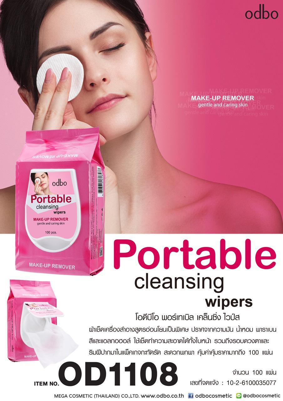Khăn giấy ướt tẩy trang Thái Lan Odbo Makeup Remover Portable Cleansing Wipers OD1108 chính hãng
