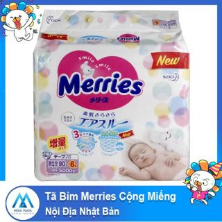 Tã Bỉm Merries dán quần cộng miếng Nội Địa Nhật Bản mềm mại thông thoáng DTA size SS90-S82-M58-M64-L44-L58-XL38 thumbnail