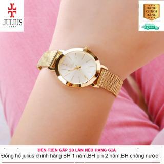ĐỒNG HỒ NỮ JULIUS JA-732D JU970 HÀN QUỐC DÂY THÉP (VÀNG) - Đồng hồ nữ cao cấp MJU970 - Đồng hồ nữ giá rẻ PJ70LPU - Đồng hồ nữ dây kim loại thumbnail