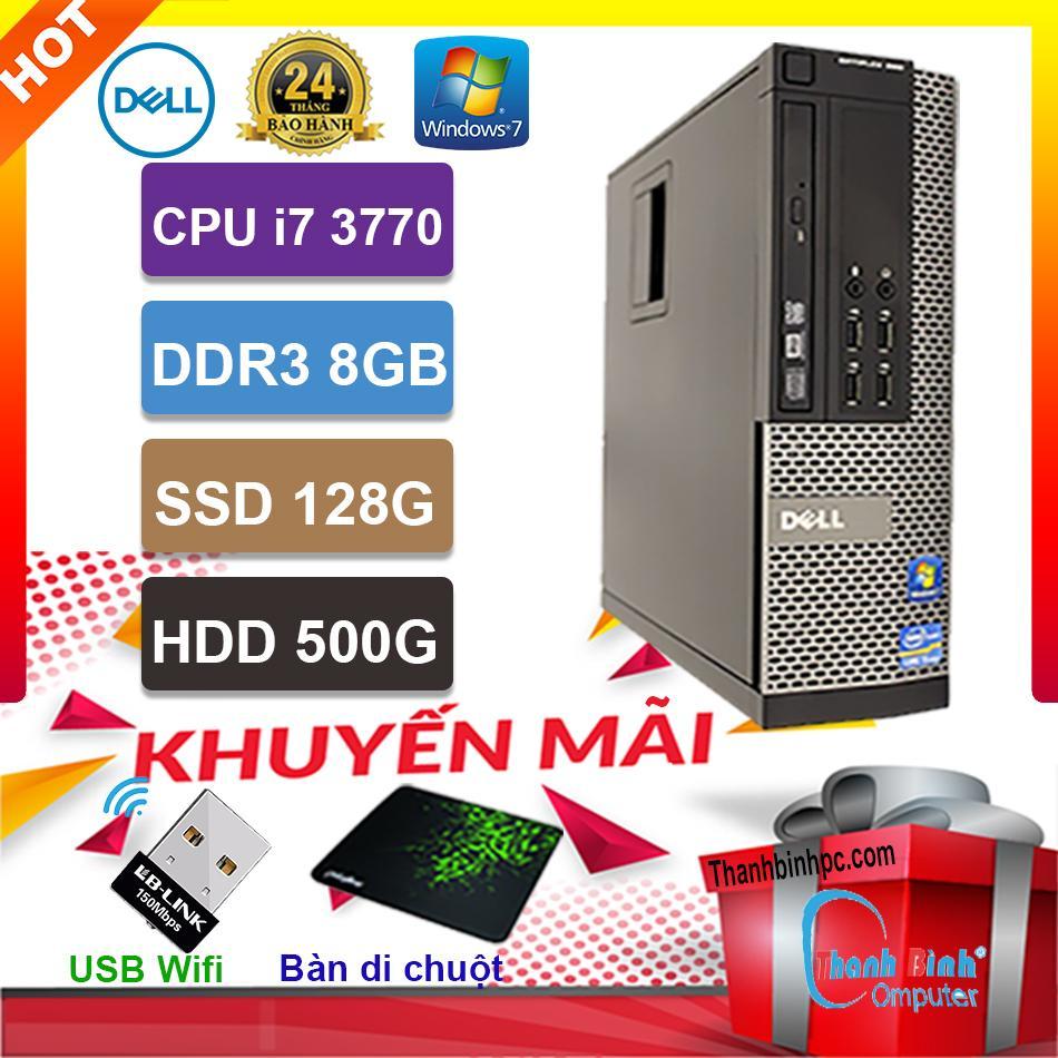 Deal Khuyến Mại Máy Tính Đồng Bộ Dell Core I7 3770 - RAM 8G - HDD 500G - SSD 128G