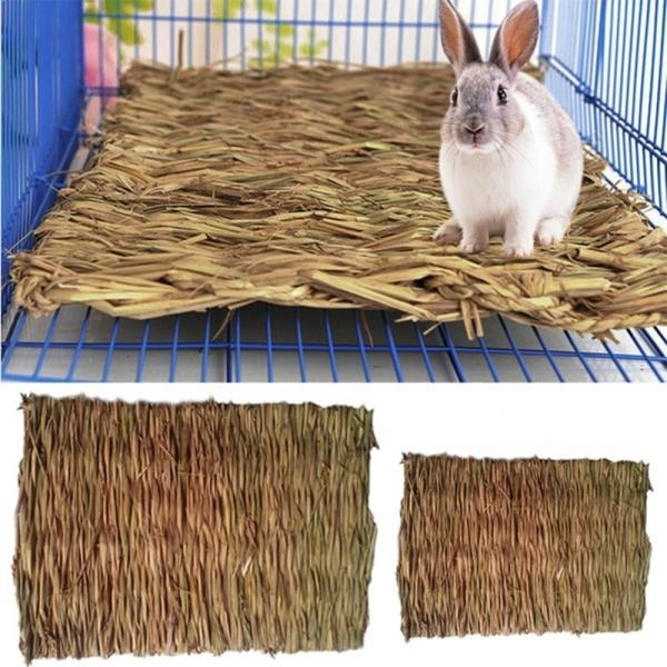 GA27524 Lồng Cỏ Hamster Tự Nhiên, Miếng Lót Nhà Nhai Giữ Ấm Sản Phẩm Vật Nuôi, Rơm Mat