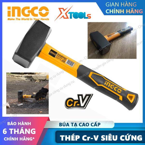 Búa tạ đa năng INGCO Thép Cr-V búa tạ cán nhựa cầm tay 1-2kg phá bê tông, phá đá, sửa chữa cơ khí, máy móc, nhà cửa [XSAFE] [XTOOLs]
