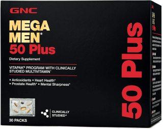 GNC MeGa Men 50 Plus Dietary Supplement 30 Packs - Viên uống bổ sung dinh dưỡng cho Nam giới trên 50 tuổi. thumbnail