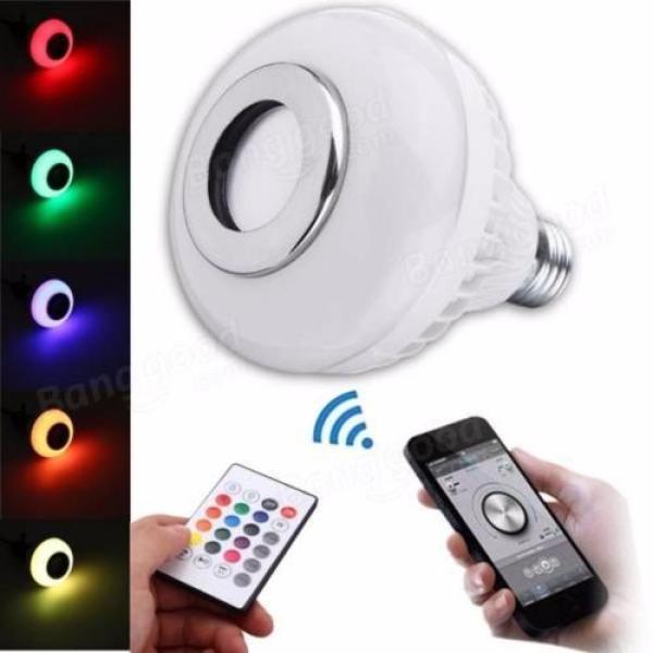 Bóng Đèn Led-Loa Bluetooth Kiêm Bóng Đèn LED Đổi Màu-Thưởng Thức Âm Nhạc Không Dây Và Đèn Nhiều Màu Sắc-Có Thể Điều Khiển Thông Qua Điện Thoại Thông Minh Hoặc Máy Tính Bảng/Bluetooth Điều Khiển Từ Xa