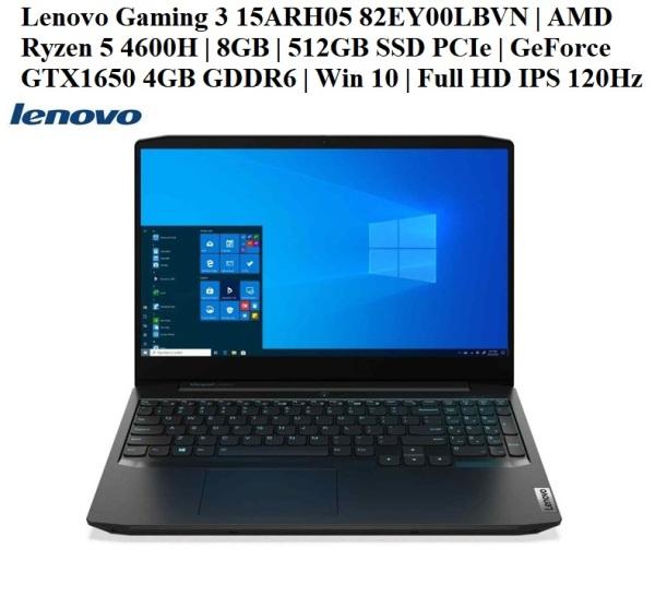 Bảng giá LapTop Lenovo IdeaPad Gaming 3 15ARH05 (82EY00LBVN)   AMD Ryzen 5 4600H   8GB   512GB SSD PCIe   GeForce® GTX1650 with 4GB GDDR6   Win 10   15,6 Full HD IPS 120Hz   Hàng New 100%, Chính hãng Lenovo Việt Nam Phong Vũ