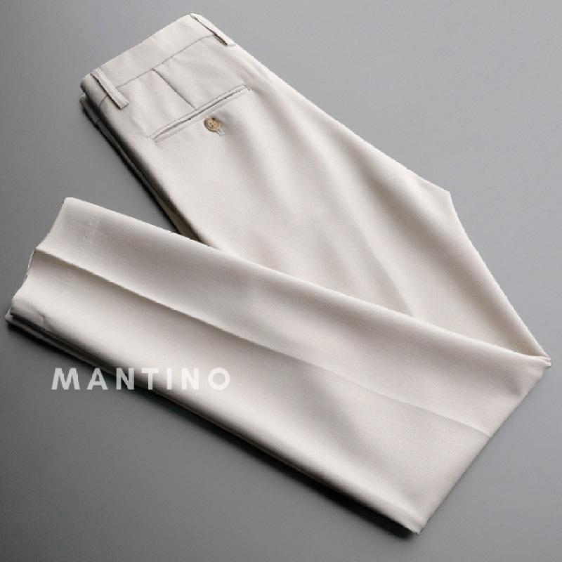 Quần âu nam (trắng sữa) ống côn, quần tây vải co giãn 4 chiều , phong cách công sở lịch lãm
