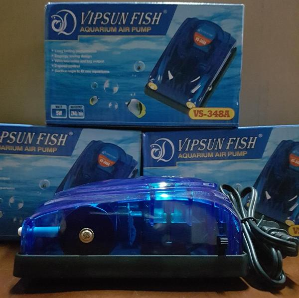 Máy Sủi Khí Oxy 2 Vòi Vipsun VS-348A - 2m Dây Và 2 Đá