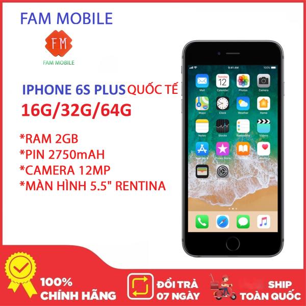 IPhone 6S Plus 64GB Quốc Tế, Mays zin keng, chính hãng APPLE bảo hành 12 tháng, 1 đổi 1 trong vòng 10 ngày đầu, hoàn tiền 100% 7 ngày đầu. fullbox đầy đủ hộp sạc.