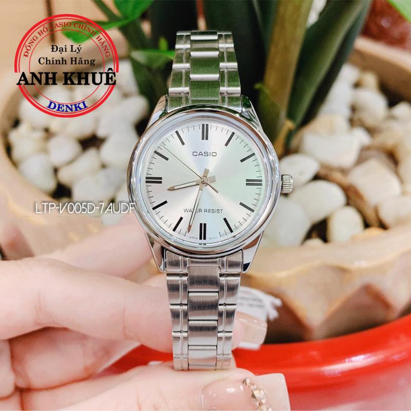 Đồng hồ nữ dây kim loại Casio Standard Anh Khuê LTP-V005D-7AUDF siêu đẹp