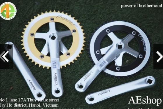 Mua đĩa trước xe đạp Fixed Gear đĩa trước xe đạp lòng chảo 46 răng