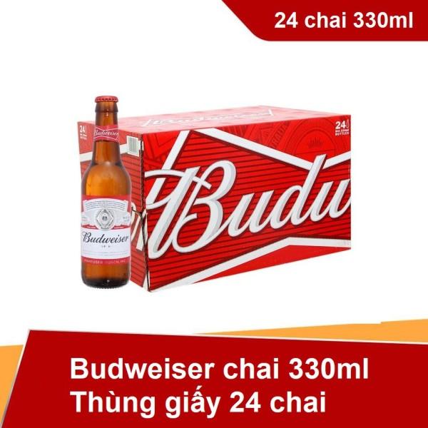 Thùng Bubweiser 24 chai 330ml - Thùng giấy