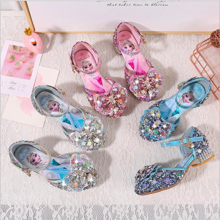 Giá bán Giày cao gót công chúa Elsa khoét eo xinh từ 3 - 12 tuổi