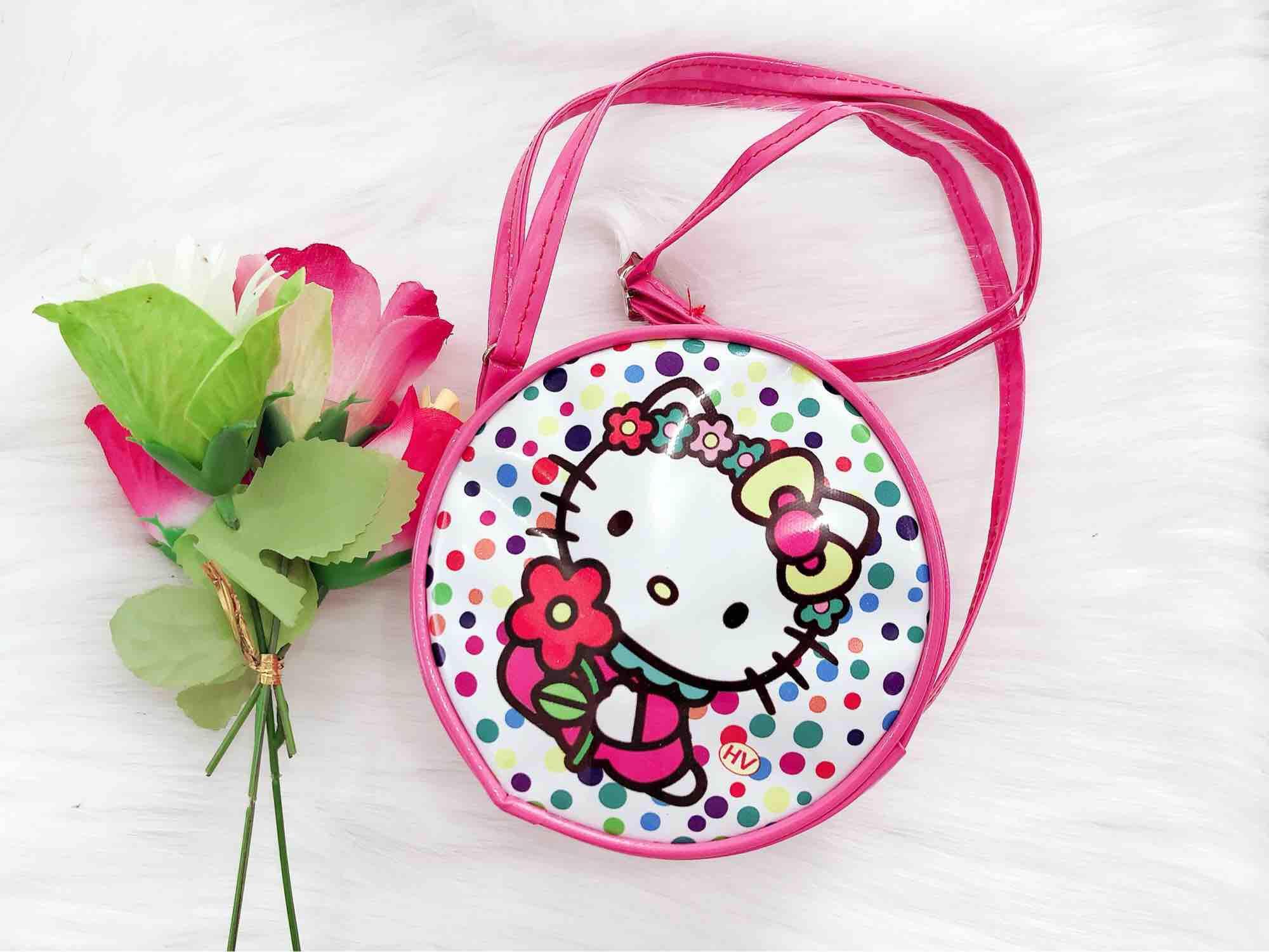 Túi đeo chéo Kitty,thời trang cho bé,màu hồng mẫu y hình.