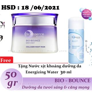 Bio-essence - Mặt nạ ngủ dưỡng da tươi sáng và căng mọng Bio-Bounce Collagen + tinh chất tổ yến Night Mask 50 gr thumbnail