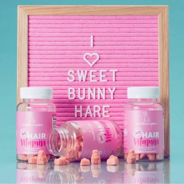 Kẹo thỏ hồng mọc tóc Hair Vitamins Sweet Bunny Hare