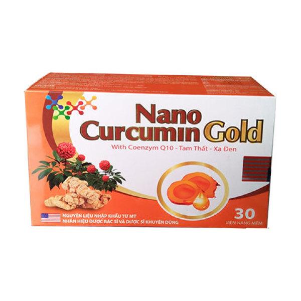 Nano Curcumin Gold - Hộp 30 Viên Giúp Làm Giảm Các Triệu Chứng Viêm Đau Dạ Dày, Tá Tràng