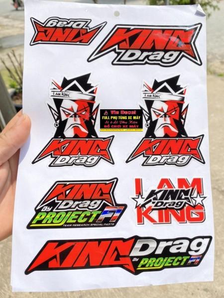 Bộ tem Kingdrag nổi dán các loại xe