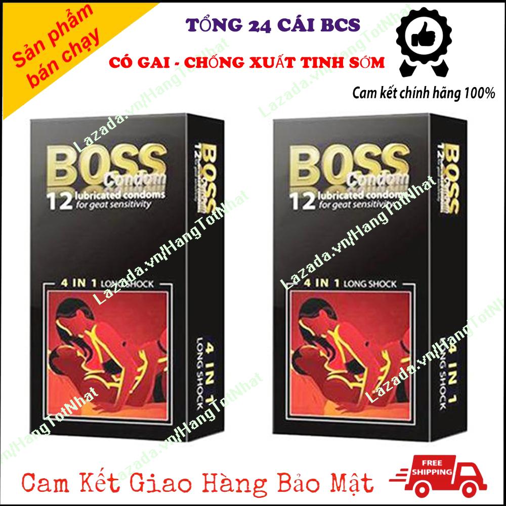 [FREE SHIP 20K ] [ COMBO 2 HỘP ] Bao Cao Su Kéo Dài Thời Gian Gân Gai 4 in 1 Hộp 12 Cái [ Tổng 24 Cái ]