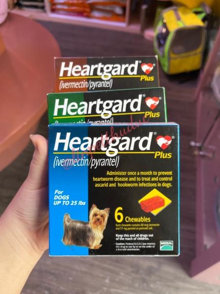 HEARTGARD loại bỏ giun cho chó (1 viên nhai) - Sổ giun cho chó