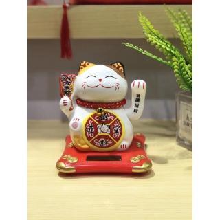 Mèo thần tài sứ vẫy tay năng lượng 10cm - Phú quý lâm môn thumbnail