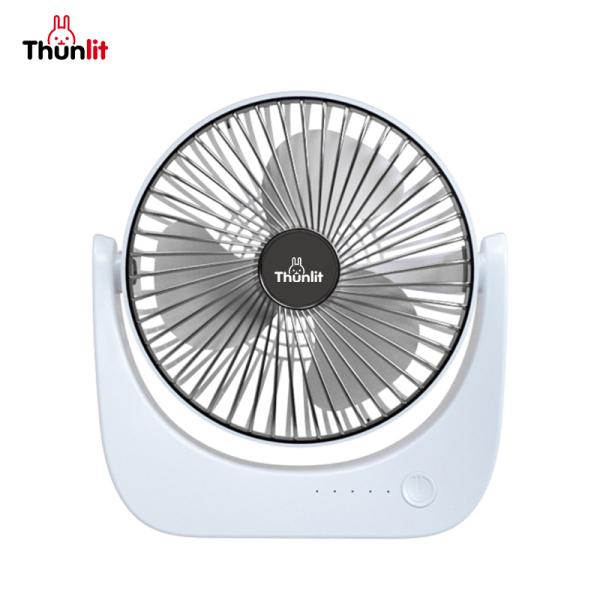 Quạt bàn có thể sạc lại Thunlit 8 inch 3 tốc độ gió 1250mAh Quạt bàn có thể sạc lại USB cho văn phòng ký túc xá hộ gia đình