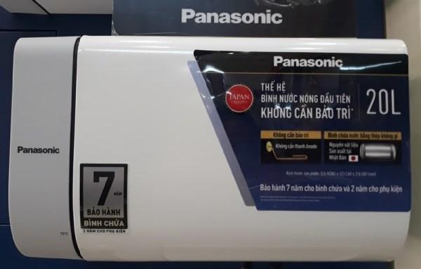 Bảng giá Bình nóng lạnh gián tiếp 20L Panasonic DH-20HAMVW Đèn báo nước nóng sẵn sàng, Ruột bình bằng Thép không gỉ từ Nhật Thanh đốt bằng Đồng, Tích hợp sẵn ELB chống giật - Miễn phí lắp đặt