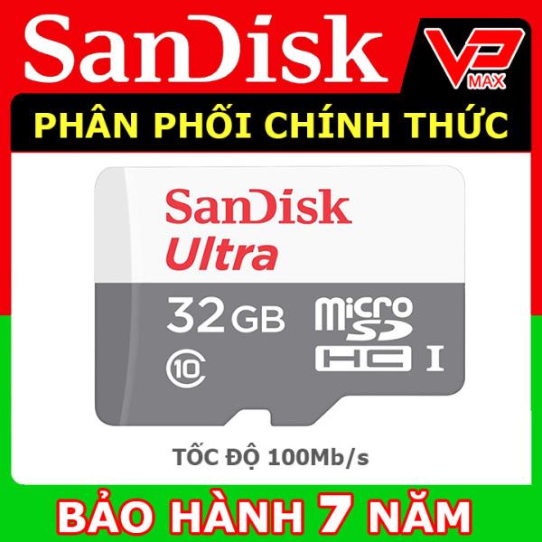 Thẻ nhớ Micro SD 32GB SanDisk Ultra Class 10 - 80Mb/s bảo hành 7 năm - vpmax