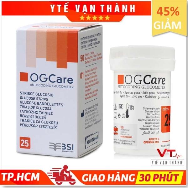 Nơi bán ✅ Que Thử Đường Huyết: Ogcare (Ý - Italia) Hạn sử dụng xa (1-2 năm) - VT0051 [ Y Tế Vạn Thành ]