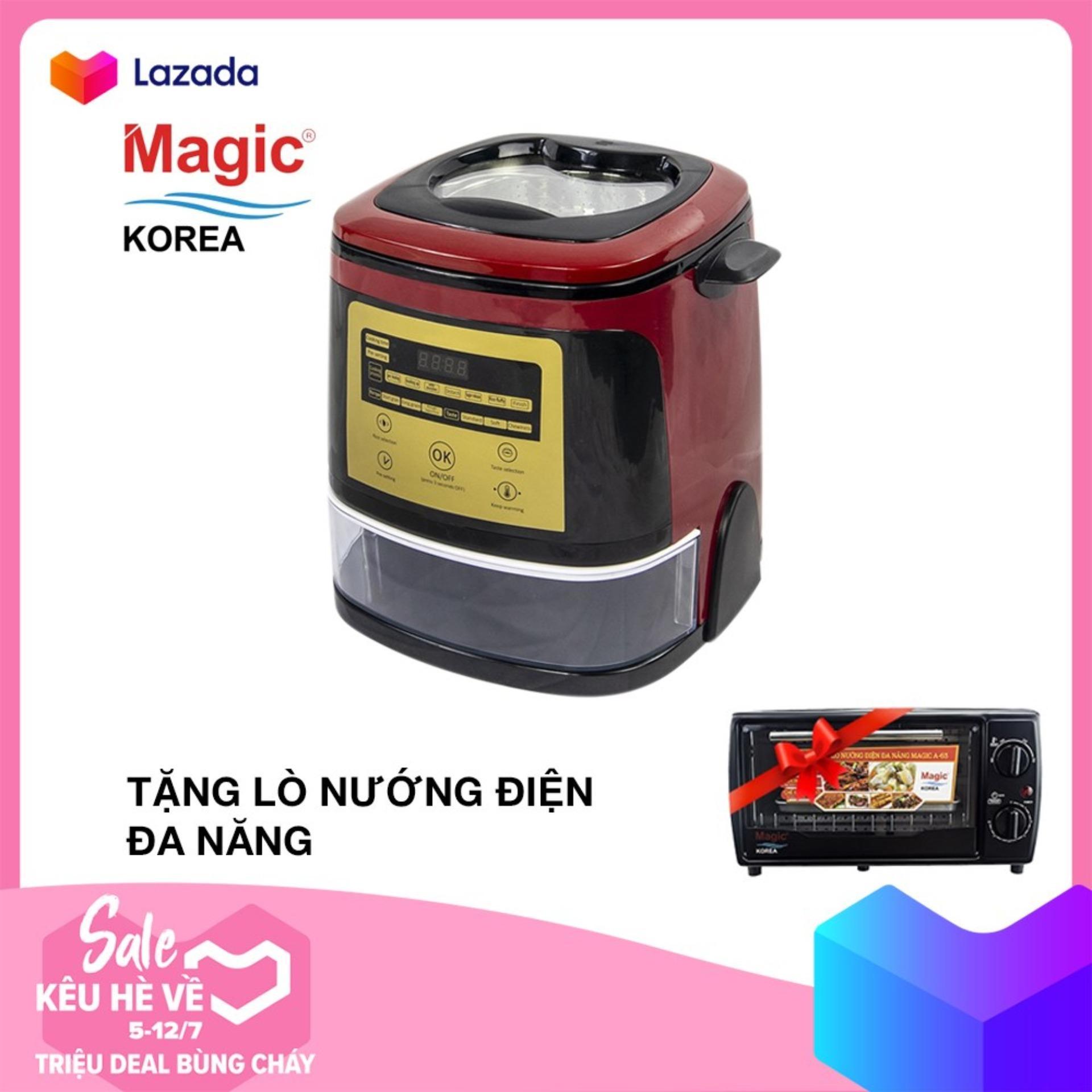 Nồi cơm điện tử tách đường Magic Korea A510 (1.5L) Tặng Lò nướng điện đa năng Magic Korea A63 (12 lít) trị giá 799k