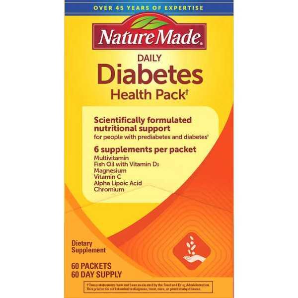 Thực Phẩm Điều Hòa Tiều Đường Nature Made Daily Diabetes Health Pack cao cấp
