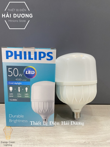 Bóng đèn Philips 50w LED TForce core HB - Đèn Led trụ Siêu sáng Bảo vệ mắt - Bảo hành 12 tháng