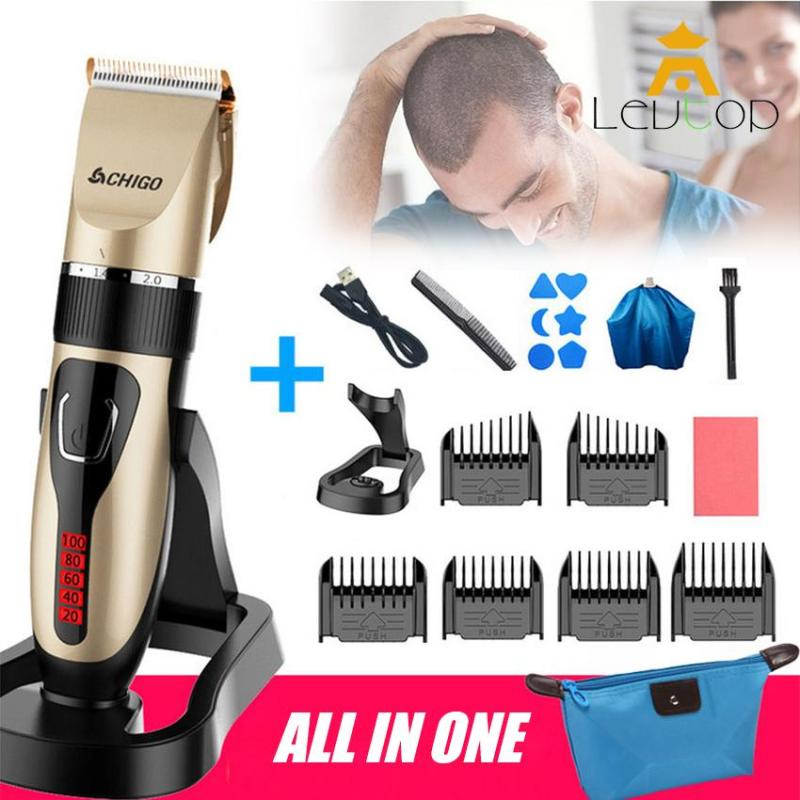 LEVTOP Professional Rechargeable Electric Hair Clipper Beard Trimmer Cutter For Adult Children with Hairdresser Tools Set