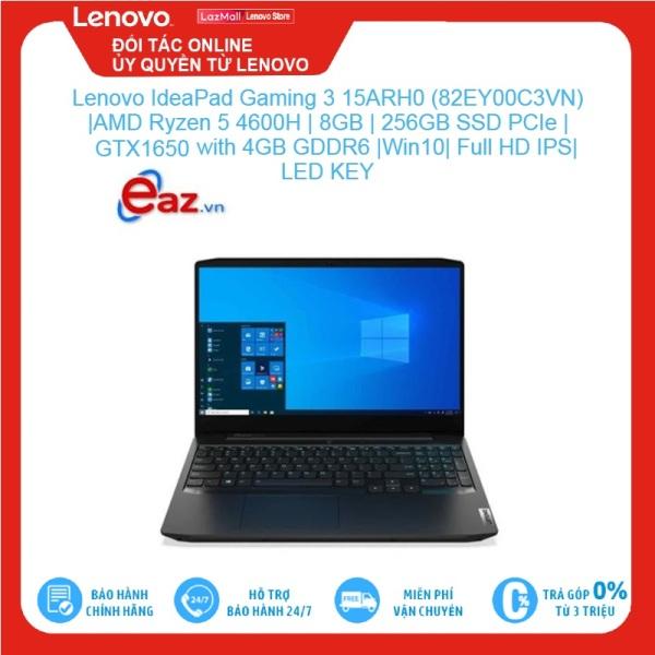 Bảng giá Lenovo IdeaPad Gaming 3 15ARH0 (82EY00C3VN)   AMD Ryzen 5 4600H   8GB   256GB SSD PCIe   GeForce GTX1650 with 4GB GDDR6   W10   Full HD IPS   LED KEY Brand New 100%, hàng phân phối chính hãng, bảo hành toàn quốc Phong Vũ
