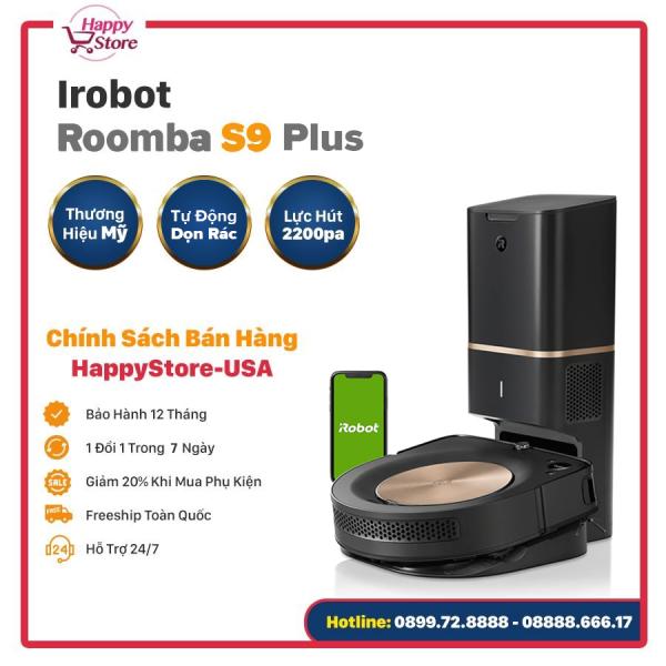 ROBOT HÚT BỤI IROBOT ROOMBA S9 PLUS (9550) - Bản quốc tế nhập Mỹ