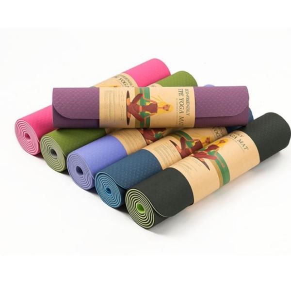 Thảm Tập Yoga TPE dầy 6mm 2 lớp Cao Cấp Lỗi Nhẹ
