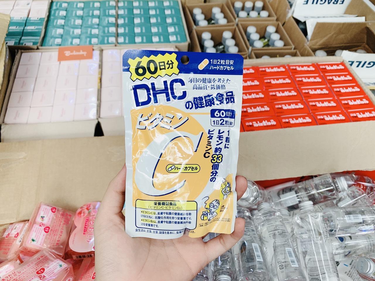 Viên uống bổ sung Vitamin C DHC 120 viên 60 ngày chính hãng