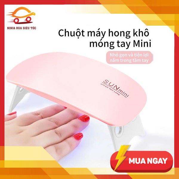 Máy hong khô sơn móng tay SUN tiện lợi mini có đèn led 6W giá rẻ
