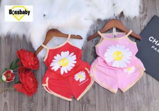 COMBO 2 BỘ cho bé gái hoa cúc , áo dây siêu xinh cho bé 6-24kg.