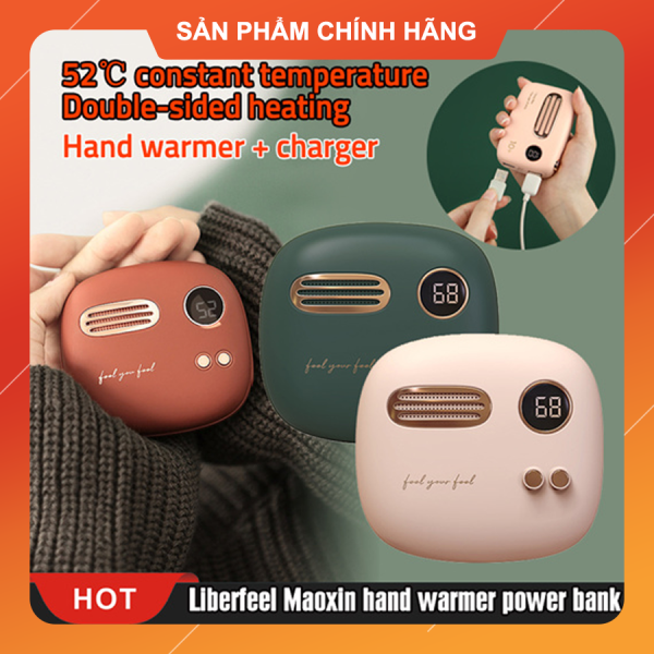 Máy sưởi ấm mini cầm tay Liberfeel made by Xiaomi kiêm sạc dự phòng