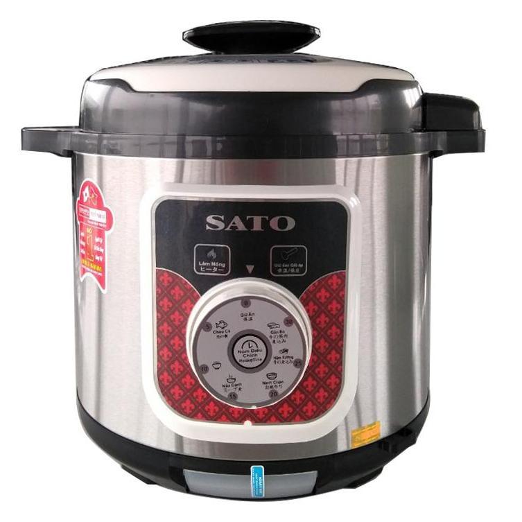 Nồi áp suất đa năng SATO - ST615PC(B) 6.0L 1000W ( Xám)