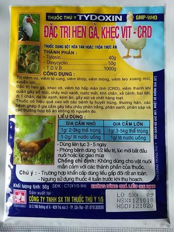 Đặt Trị Hen Gà, Khẹt Vịt CRD - Tydoxin 50G